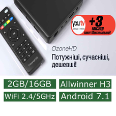 Android Смарт Приставка OzoneHD NEO Allwinner H3 2G/16G Dual WiFi
