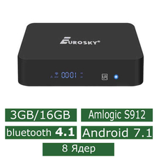 Android Смарт Приставка Eurosky X-TURBO S912 3G/16G