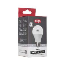 Светодиодная лампа ERGO Basic A60 E27 10W 4100K