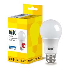 Светодиодная лампа IEK ALFA A60 шар E27 10W 6500K