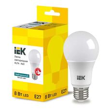 Светодиодная лампа IEK ALFA A60 шар E27 8W 4000K